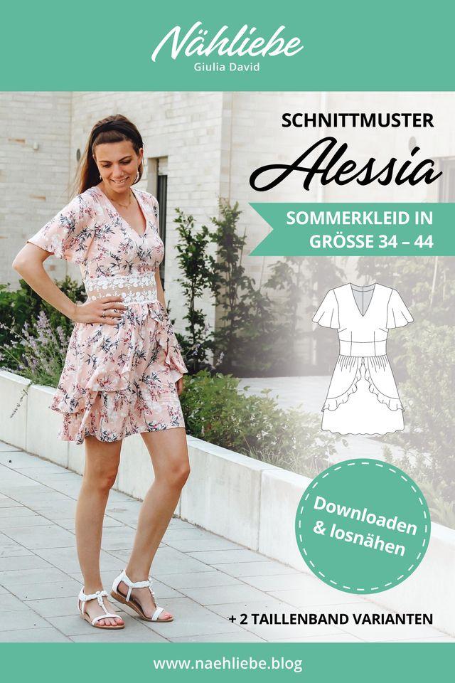 Produktfoto von Nähliebe Giulia David zum Nähen für Schnittmuster Kleid Alessia