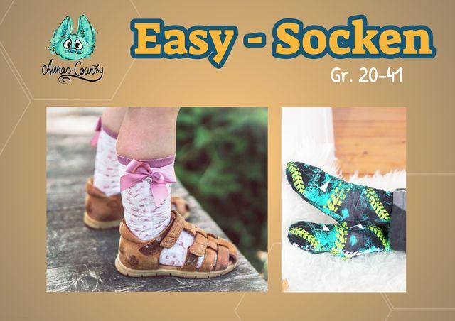 Produktfoto von Annas-Country zum Nähen für Schnittmuster Easy Socken