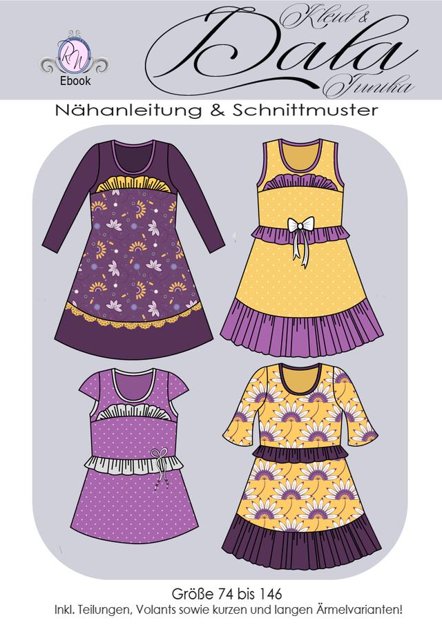 Produktfoto von Rosalieb & Wildblau zum Nähen für Schnittmuster Kleid/Tunika Dala Girls