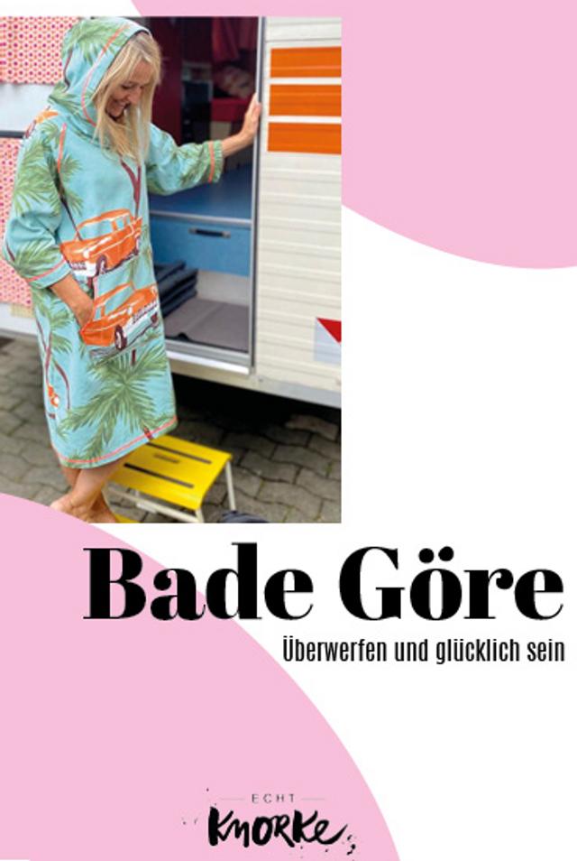 Produktfoto von echt Knorke zum Nähen für Schnittmuster Die Bade Göre
