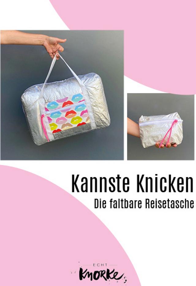 Produktfoto von echt Knorke zum Nähen für Schnittmuster Kannste Knicken Tasche