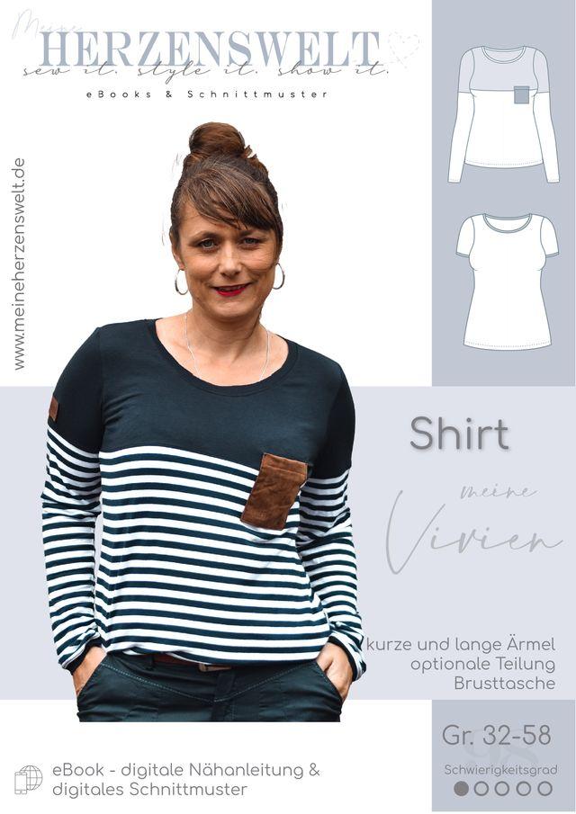 Produktfoto von Meine Herzenswelt zum Nähen für Schnittmuster Shirt Damen - Meine Vivien