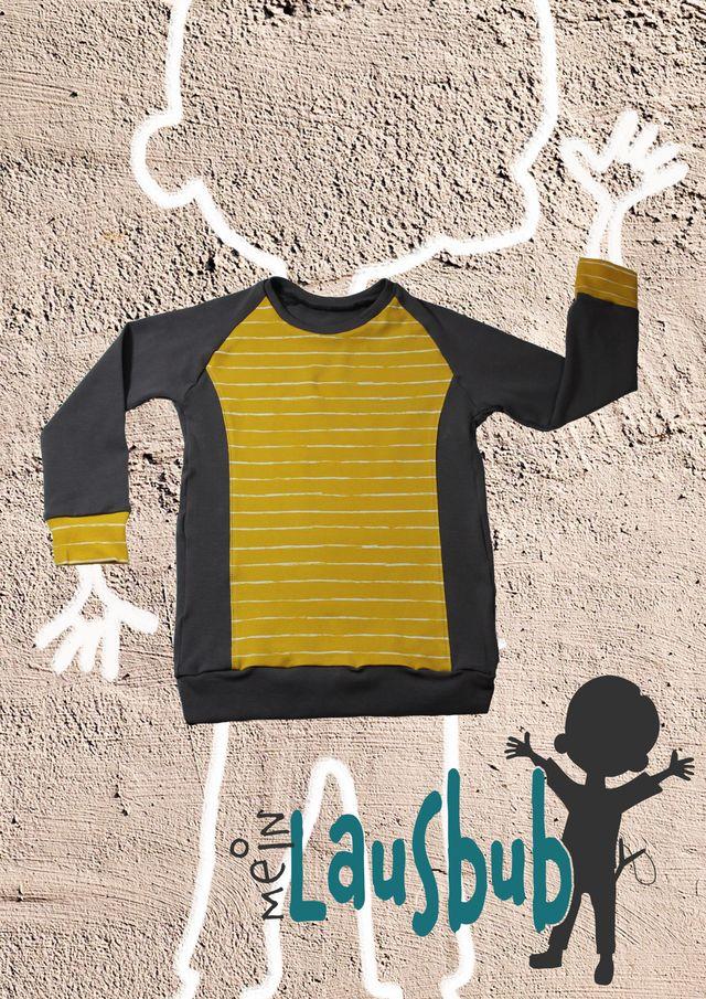Produktfoto von Mein Lausbub Schnittmuster zum Nähen für Schnittmuster Bela Raglanshirt für Jungen