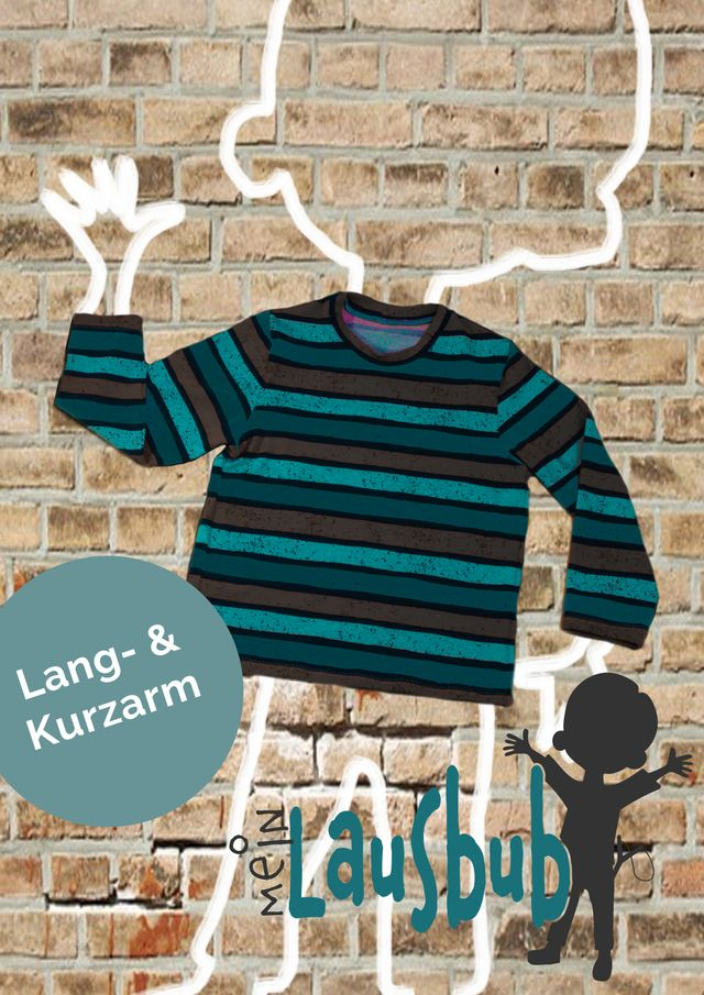 Produktfoto von Mein Lausbub Schnittmuster zum Nähen für Schnittmuster Adam Basic-Shirt für Jungs