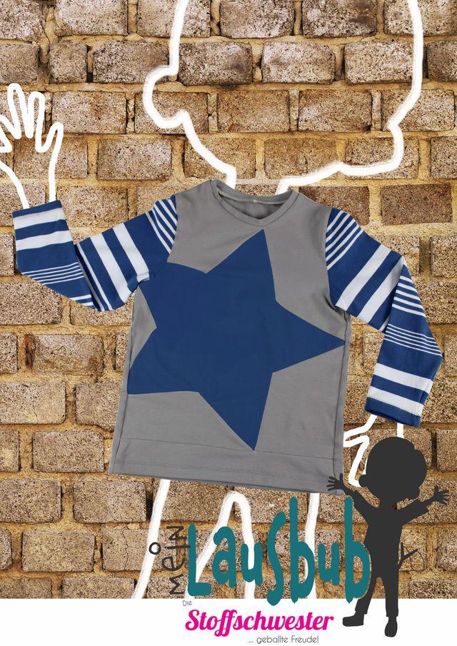 Produktfoto von Mein Lausbub Schnittmuster zum Nähen für Schnittmuster Dorian Sternenshirt für Jungs