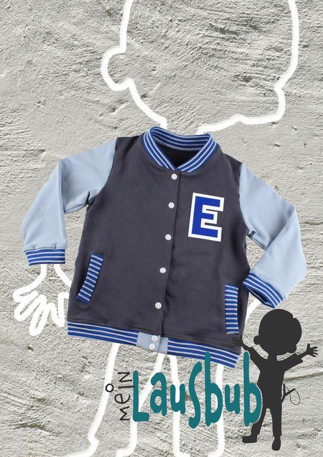Produktfoto von Mein Lausbub Schnittmuster zum Nähen für Schnittmuster Elmo Collegejacke für Jungs