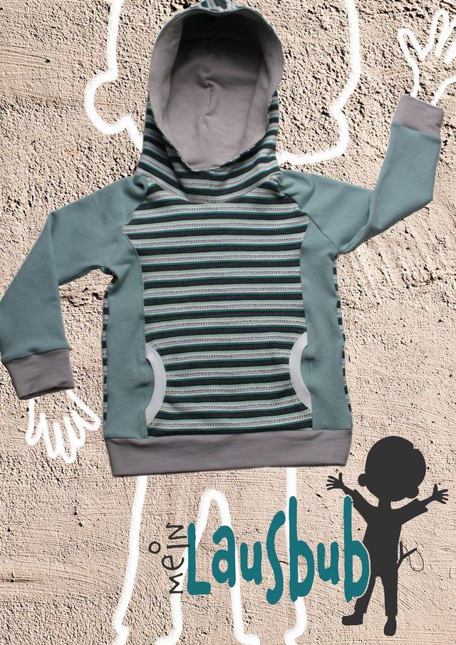 Produktfoto von Mein Lausbub Schnittmuster zum Nähen für Schnittmuster Carlo Raglanhoodie für Jungs