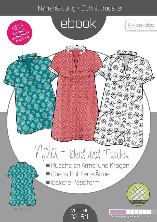 Produktfoto von ki-ba-doo zum Nähen für Schnittmuster Bluse/Tunika Nola