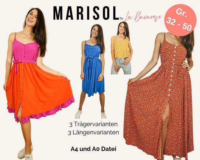 Produktfoto von La Bavarese zum Nähen für Schnittmuster Maxikleid Marisol