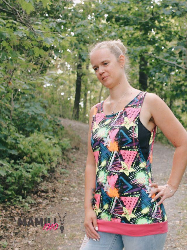 Produktfoto von Mamili1910 zum Nähen für Schnittmuster Tanktop Elli & Bandeau-Shirt