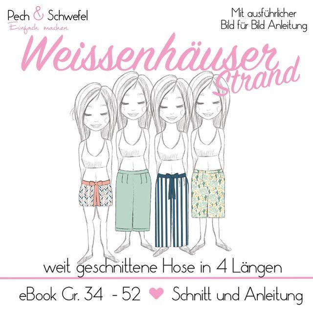 Produktfoto von Pech & Schwefel zum Nähen für Schnittmuster Hose Weissenhäuser Strand