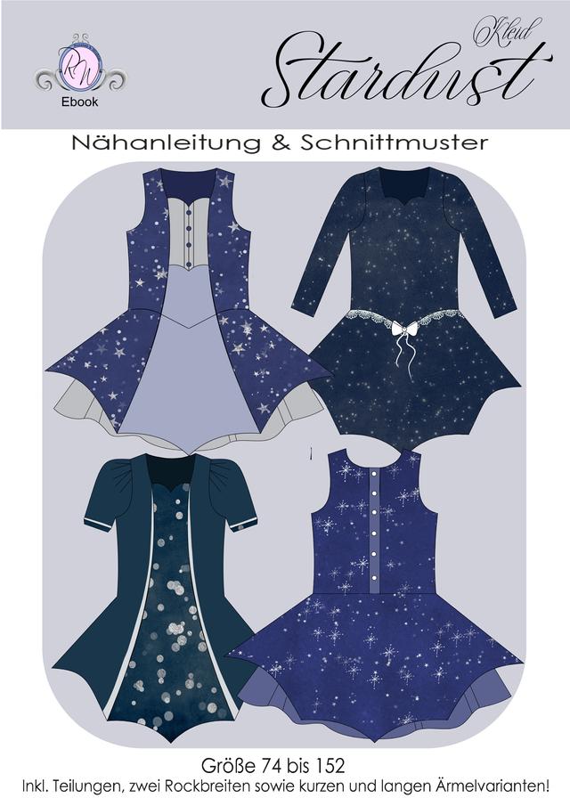 Produktfoto von Rosalieb & Wildblau zum Nähen für Schnittmuster Kleid Stardust