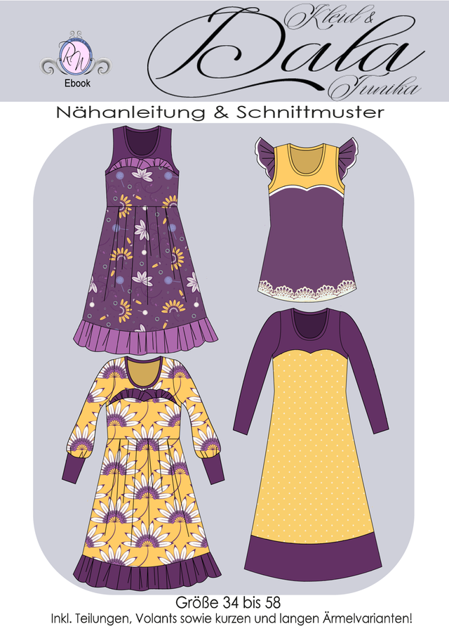 Produktfoto von Rosalieb & Wildblau zum Nähen für Schnittmuster Tunika/Kleid Dala Damen