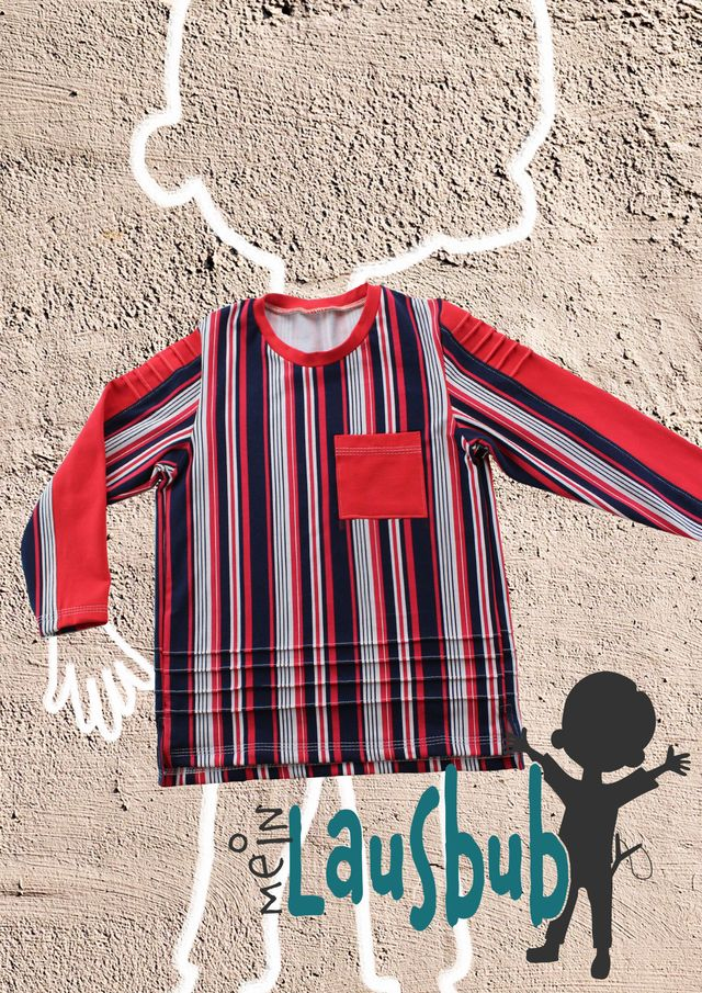 Produktfoto von Mein Lausbub Schnittmuster zum Nähen für Schnittmuster Henry Shirt mit Biesen für Jungs