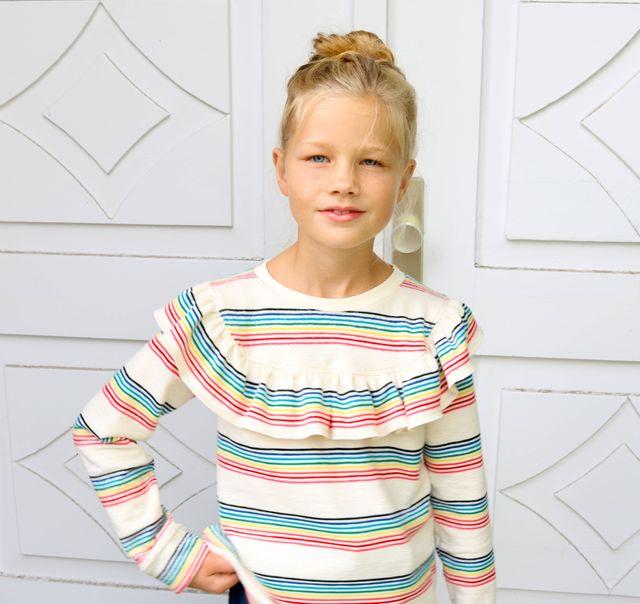 Produktfoto von Kid5 zum Nähen für Schnittmuster Ruffle Shirt Girls