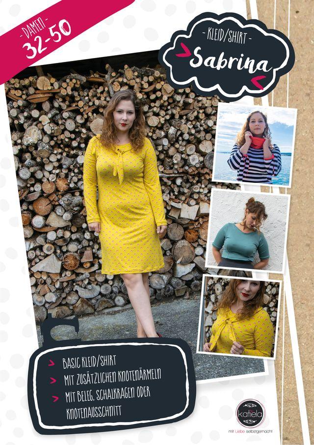 Produktfoto von Katiela zum Nähen für Schnittmuster Knotenkleid und -shirt Sabrina