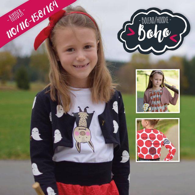 Produktfoto von Katiela zum Nähen für Schnittmuster Boho Bolero für Kinder