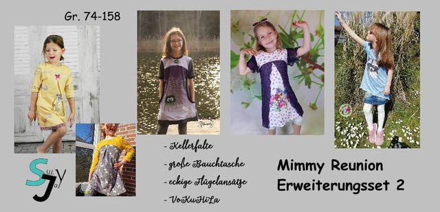 Produktfoto von Sillyjay zum Nähen für Schnittmuster Erweiterungsset 2 zu Mimmy 74-152
