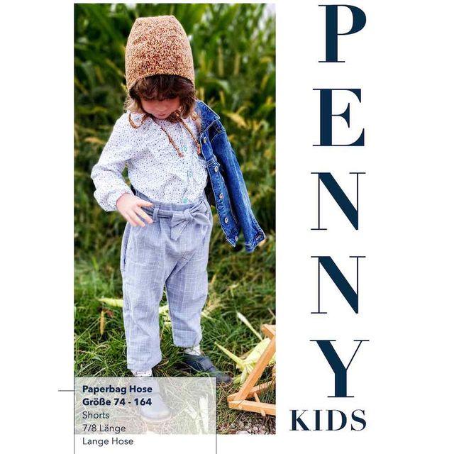 Produktfoto von Sara & Julez zum Nähen für Schnittmuster Paperbag Hose Penny Kids