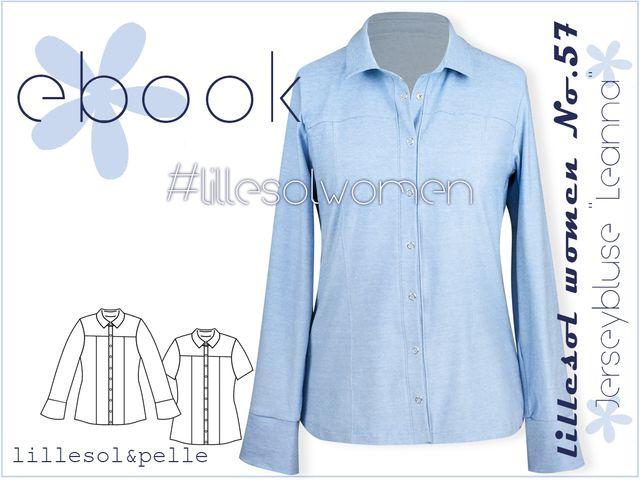 Produktfoto von Lillesol & Pelle zum Nähen für Schnittmuster Lillesol Women No.57 Jerseybluse Leanna