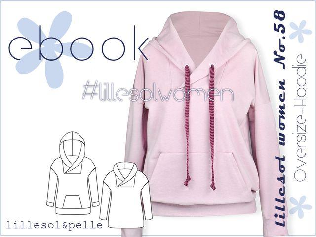 Produktfoto von Lillesol & Pelle zum Nähen für Schnittmuster Lillesol Women No.58 Oversize-Hoodie