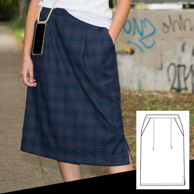 Produktfoto von pedilu zum Nähen für Schnittmuster LaWoodie Skirt  - Rock und Latzkleid