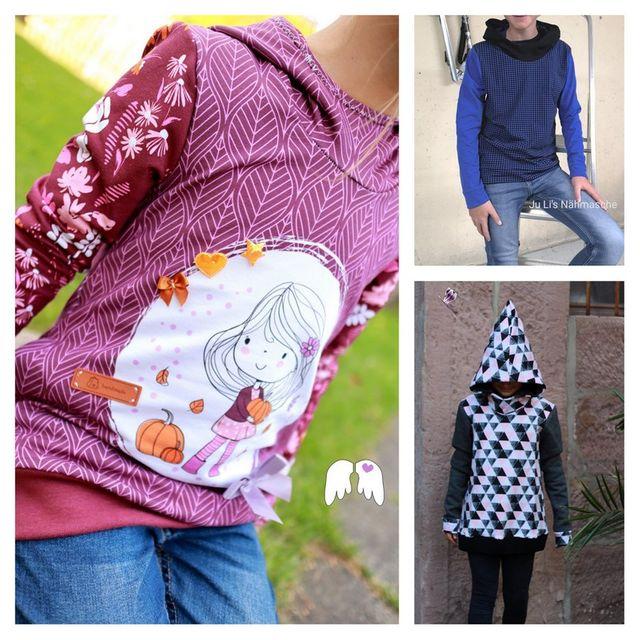 Produktfoto von Engelinchen zum Nähen für Schnittmuster Hoodie Zwergenkind