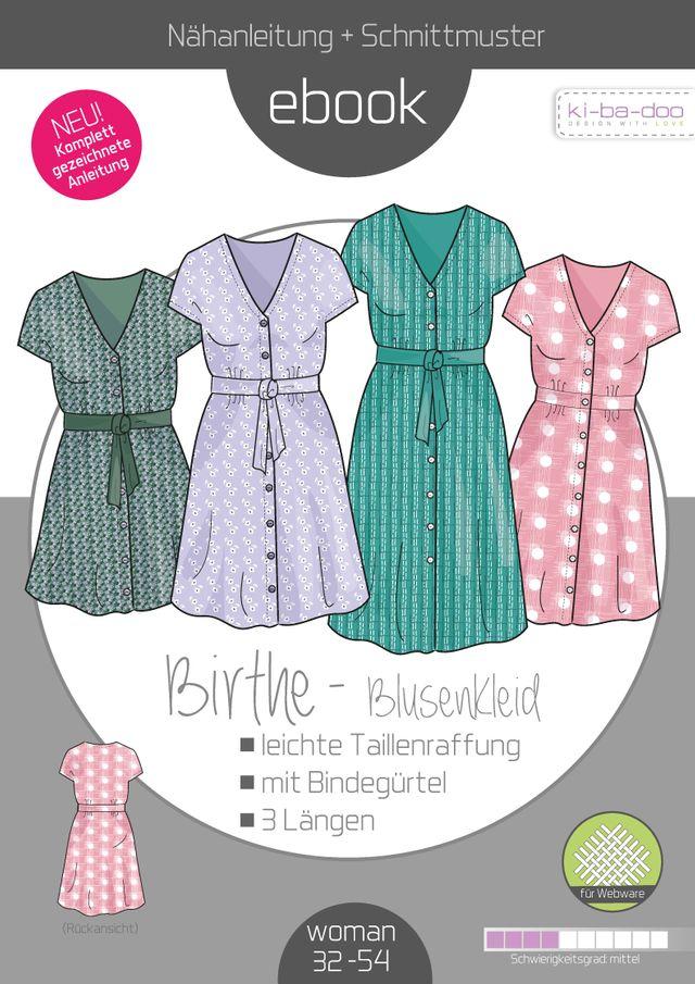 Produktfoto von ki-ba-doo zum Nähen für Schnittmuster Blusenkleid Birthe