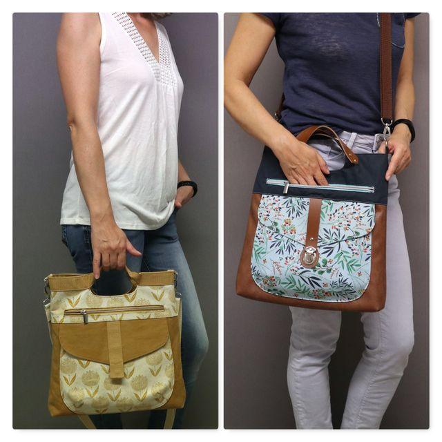 Produktfoto von Frau Schnitte zum Nähen für Schnittmuster Tasche Yve