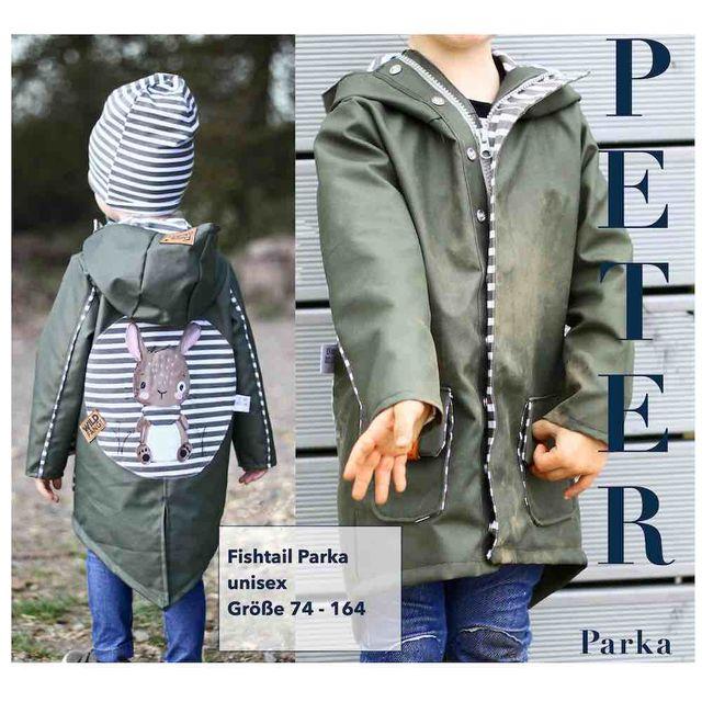 Produktfoto von Sara & Julez zum Nähen für Schnittmuster Fishtail Parka Peter
