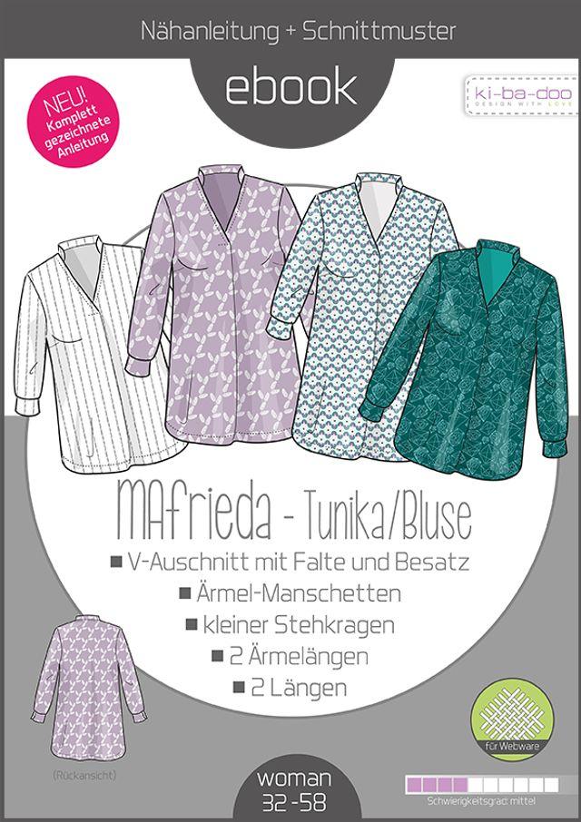 Produktfoto von ki-ba-doo zum Nähen für Schnittmuster Bluse MAfrieda