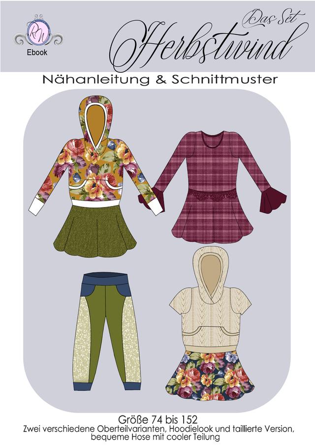Produktfoto von Rosalieb & Wildblau zum Nähen für Schnittmuster Herbstwind - das Set