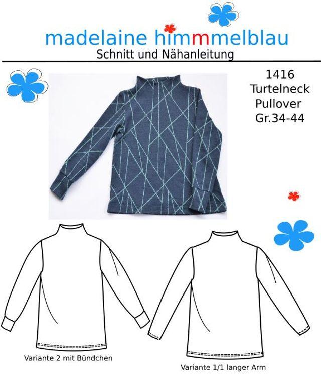 Produktfoto von madelaine himmmelblau zum Nähen für Schnittmuster 1416 Damen-Pullover