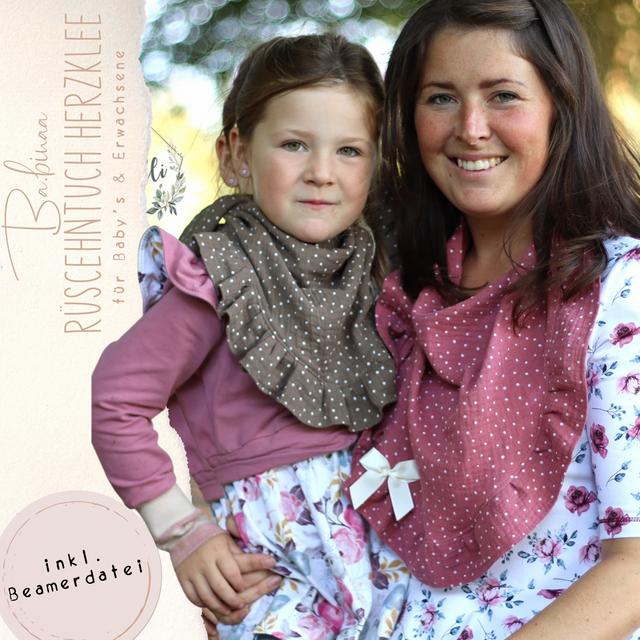 Produktfoto von Ba.binaa Patterns zum Nähen für Schnittmuster Rüschentuch Herzklee