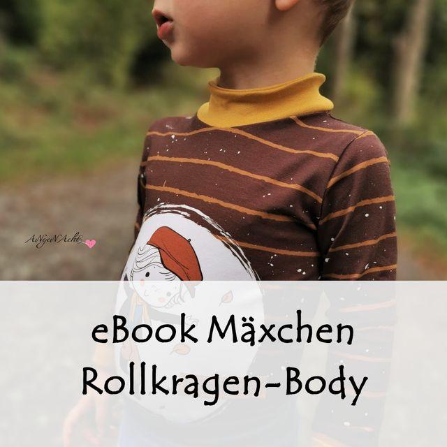 Produktfoto von Bunte Nähigkeiten zum Nähen für Schnittmuster Rollkragen-Body