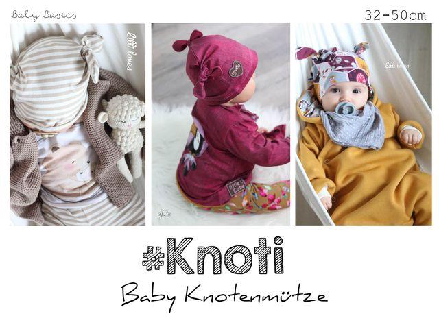 Produktfoto von rosarosa zum Nähen für Schnittmuster #knoti  Babymütze