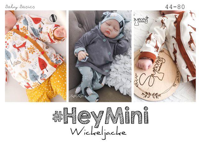 Produktfoto von rosarosa zum Nähen für Schnittmuster #HeyMini Wickeljacke