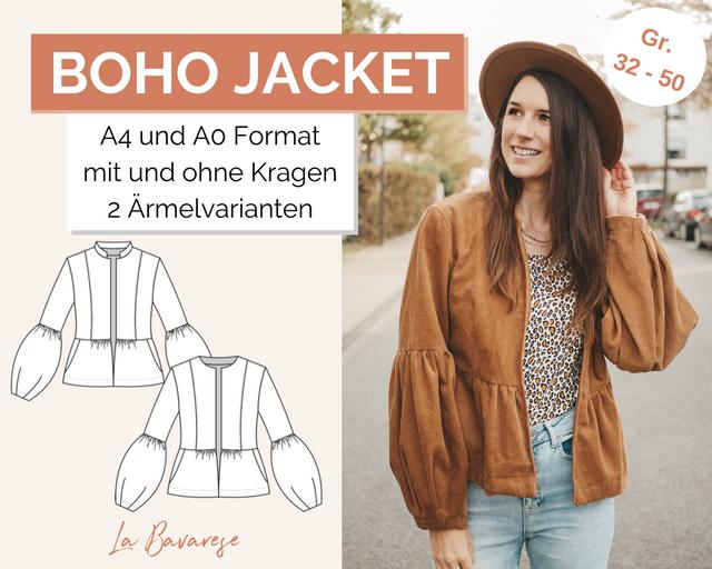 Produktfoto von La Bavarese zum Nähen für Schnittmuster The Boho Jacket
