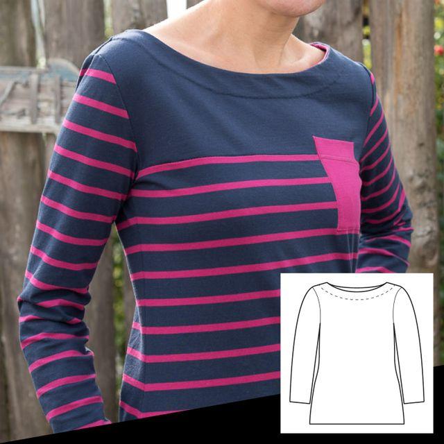 Produktfoto von pedilu zum Nähen für Schnittmuster LaBreton -  Shirt
