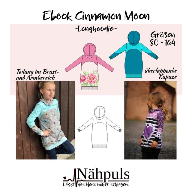 Produktfoto von Nähpuls zum Nähen für Schnittmuster Longhoodie Cinnamon Moon