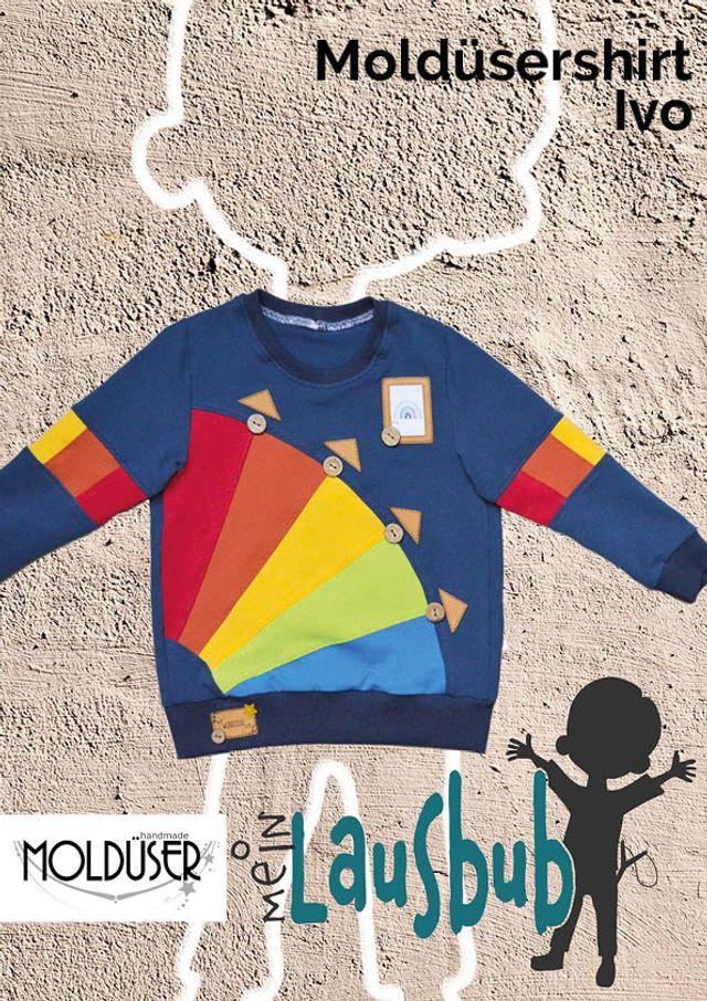 Produktfoto von Mein Lausbub Schnittmuster zum Nähen für Schnittmuster Moldüsershirt Ivo für Jungs