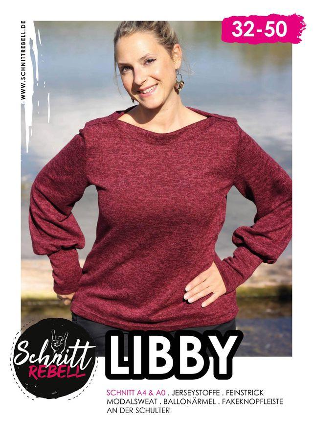 Produktfoto von Schnittrebell zum Nähen für Schnittmuster Pullover Libby