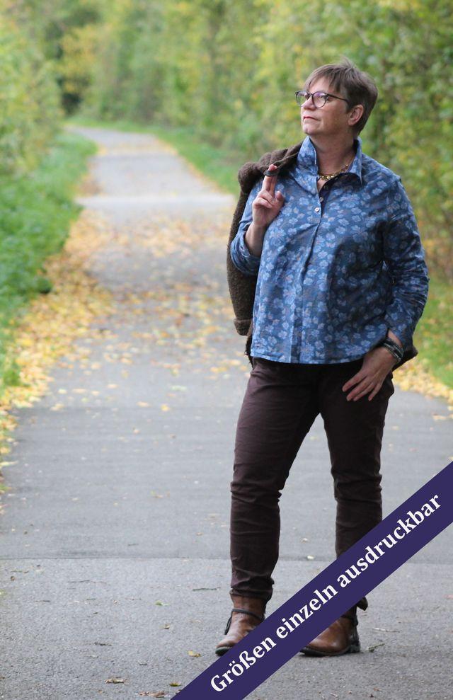 Produktfoto von Unendlich schön - Design Anita Lüchtefeld zum Nähen für Schnittmuster Hemdbluse Ariane