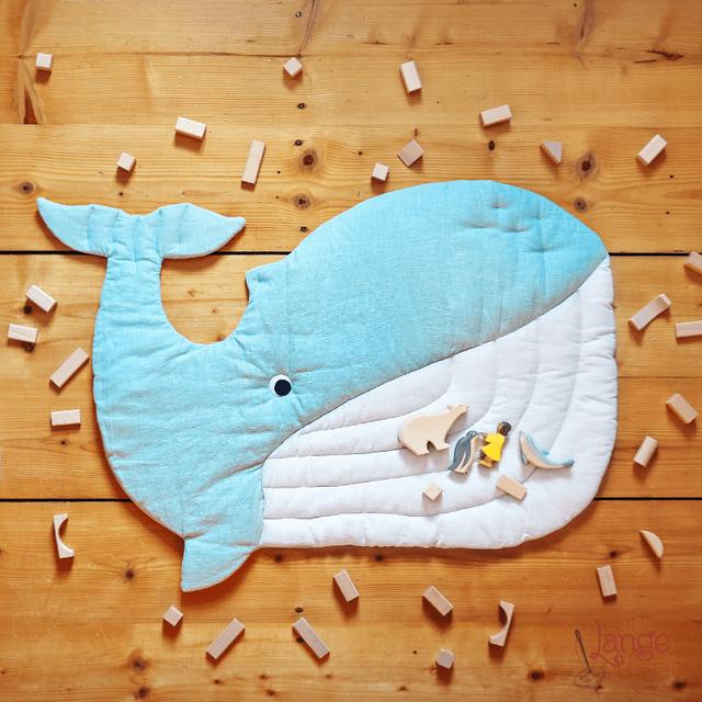 Produktfoto von Von Lange Hand zum Nähen für Schnittmuster Wal Spielmatte & Krabbeldecke
