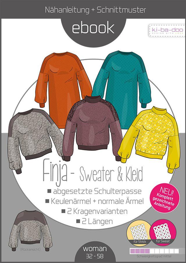 Produktfoto von ki-ba-doo zum Nähen für Schnittmuster Sweater Finja