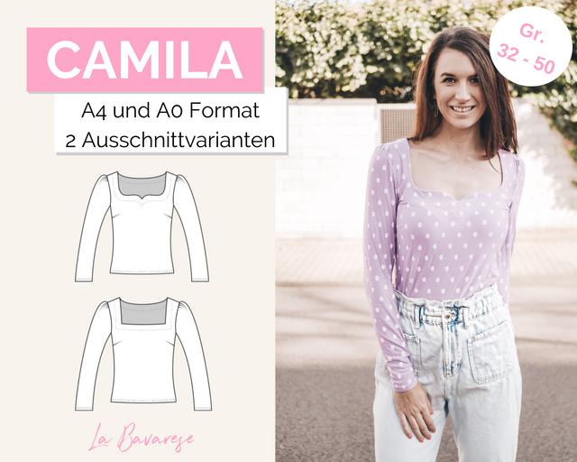 Produktfoto von La Bavarese zum Nähen für Schnittmuster Jerseyshirt Camila