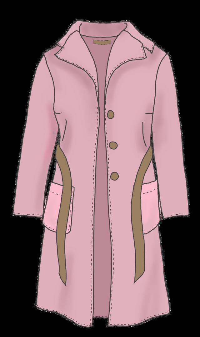 Produktfoto von kleinerspatz zum Nähen für Schnittmuster Mantel und Jacke mit Revers
