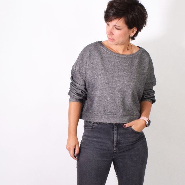 Produktfoto von Leni Pepunkt zum Nähen für Schnittmuster CROPPED.sweater/-jacke