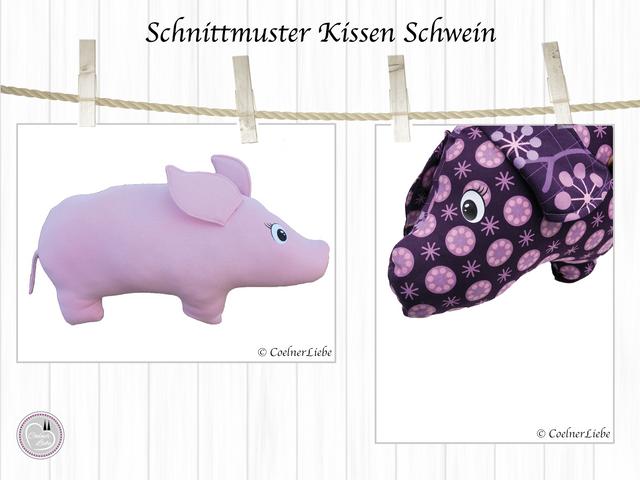 Produktfoto von CoelnerLiebe zum Nähen für Schnittmuster Nackenkissen Schwein