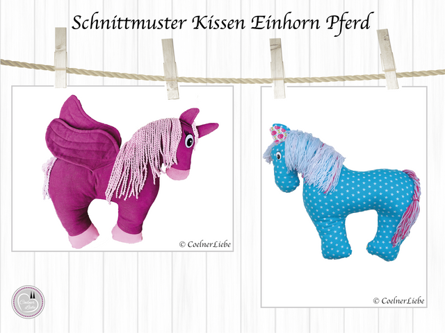 Produktfoto von CoelnerLiebe zum Nähen für Schnittmuster Nackenkissen Einhorn oder Pferd